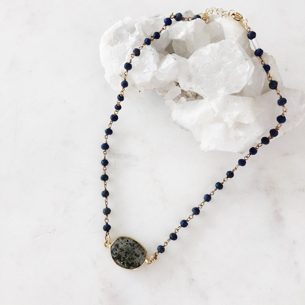 Rutilated Quartz Rosary Choker