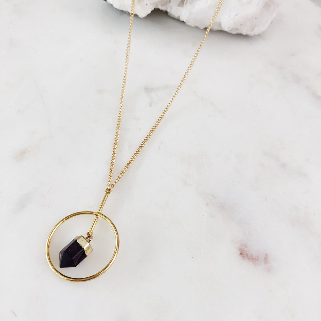 Amethyst Orbit Necklace