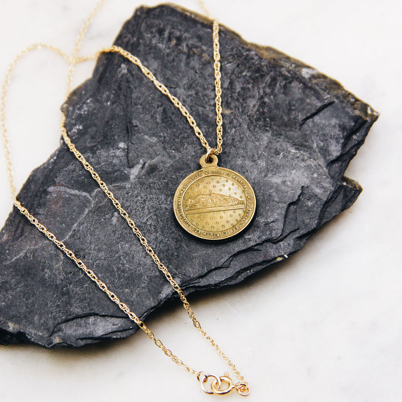 Vintage Brass Coin Necklace