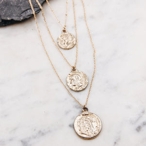 Assorted Vintage Coin Layer Necklace
