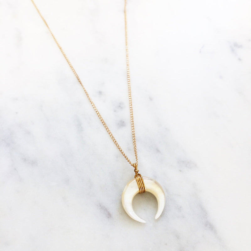 The Pearl Moon Baby Necklace