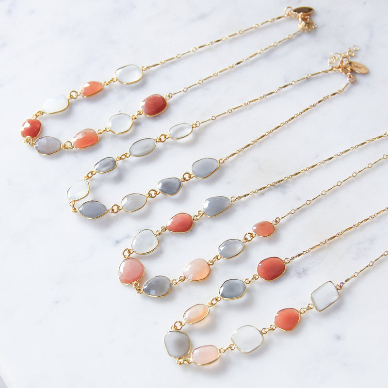 Autumn Sunset Bezel Choker