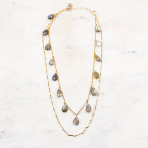 Labradorite Teardrop Choker Necklace
