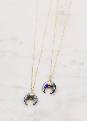 The Abalone Moon Baby Necklace