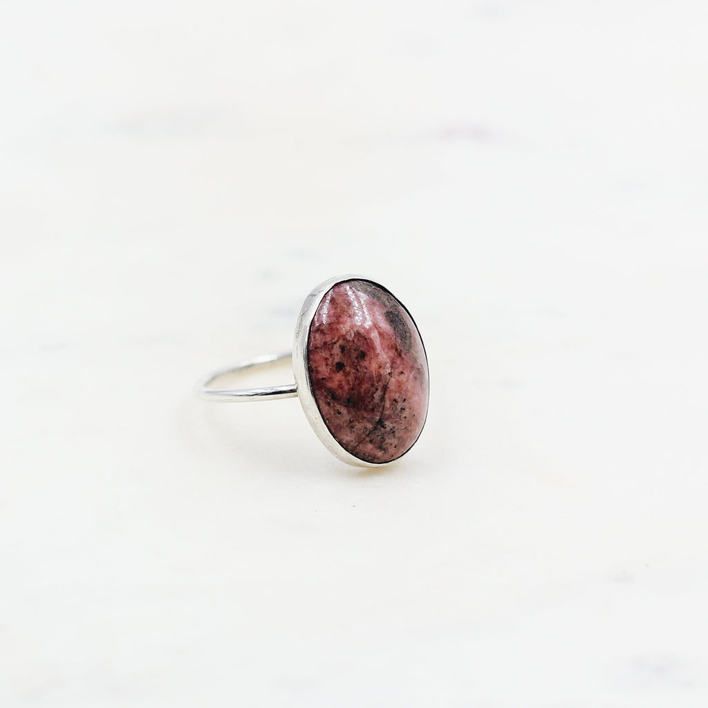 Handcrafted Rhodonite Ring