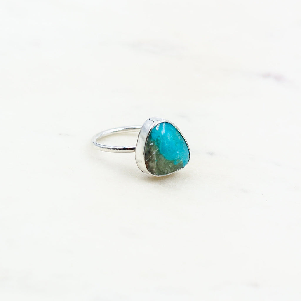 Handcrafted Kingman Blue Arizona Turquoise Ring