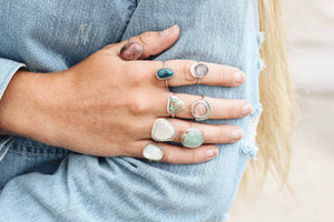 Handcrafted Pink Moonstone Ring
