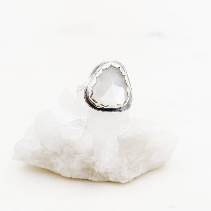 Handcrafted Grey Moonstone Ring