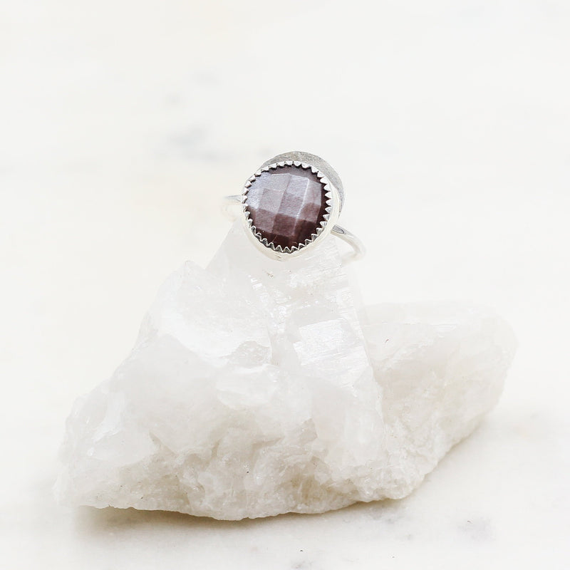 Handcrafted Chocolate Moonstone Ring