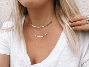 Hammered Bar Necklace - Gypset