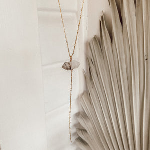 Rutliated Quartz Lariat Necklace - Gypset