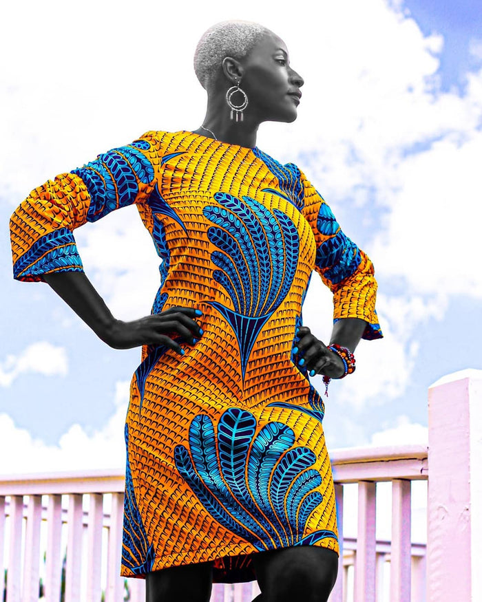 Adesewa African Ankara Print Dress