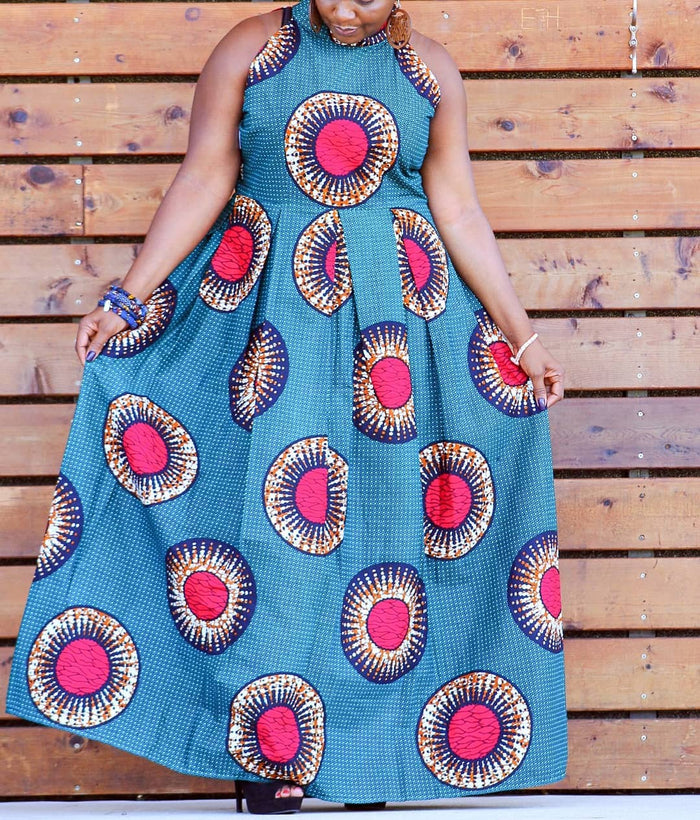 Bolade Flowing African Ankara Print Dress