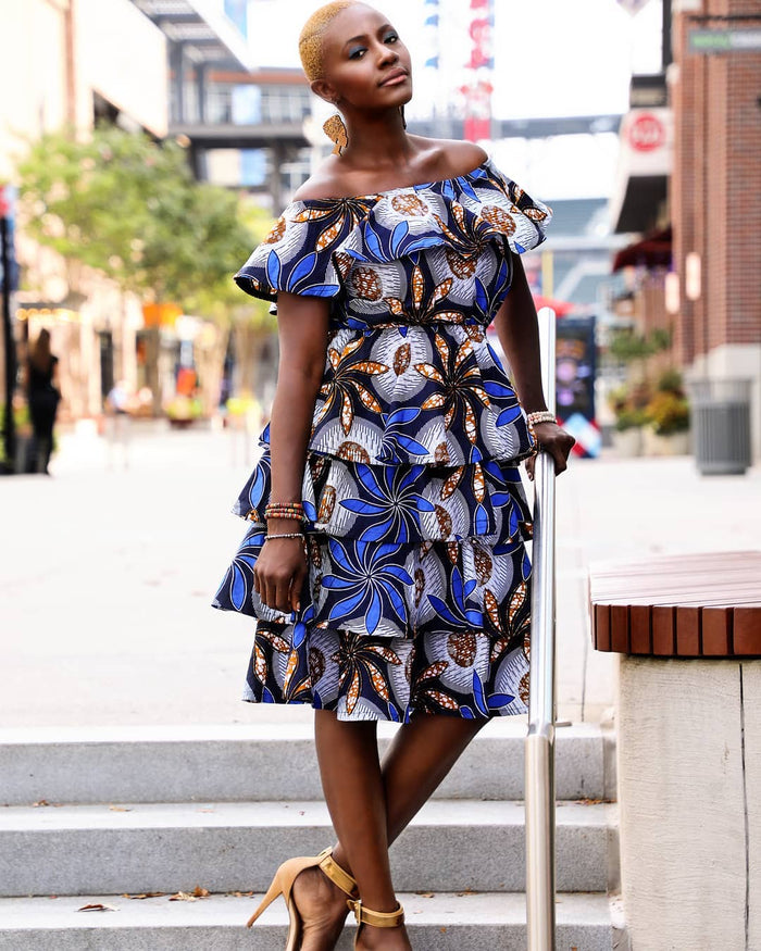 Seun Tier Ankara African Dress
