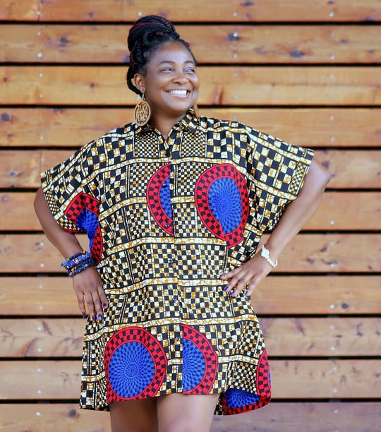 Tinuola Mini African Print Dress