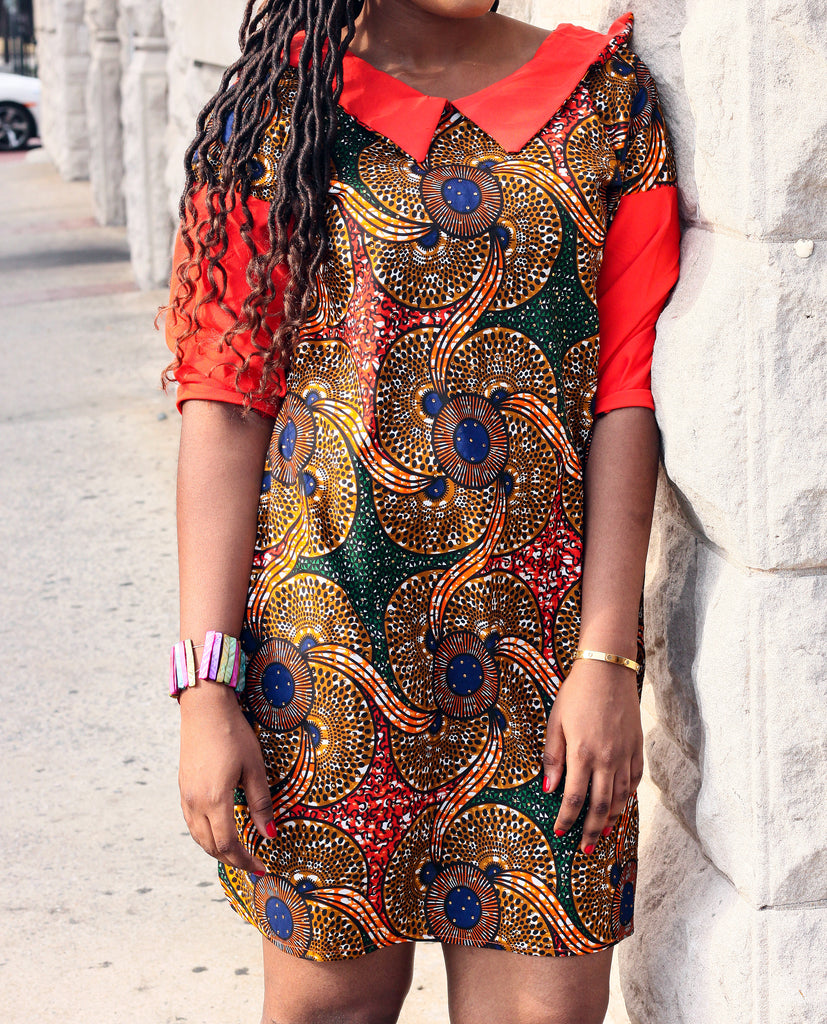 Amoke African Ankara Print Dress