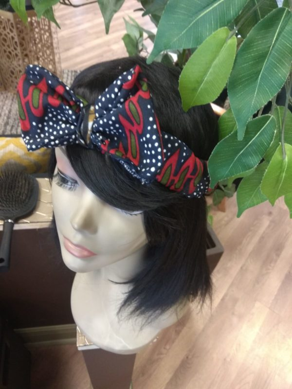 Gozi Ankara Hair Band with Bow detail