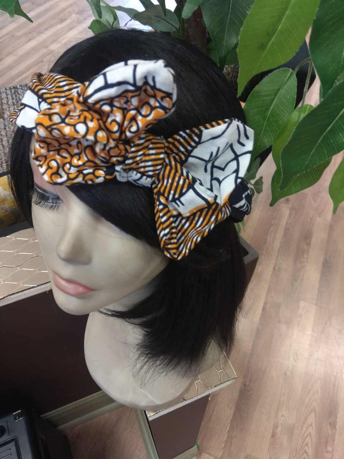Idara African Inspired hair Band With Bow detail