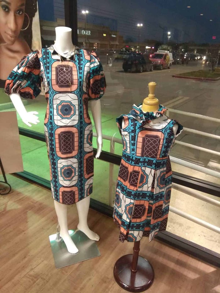 Ayoni African Ankara Mother and Daughter Dress