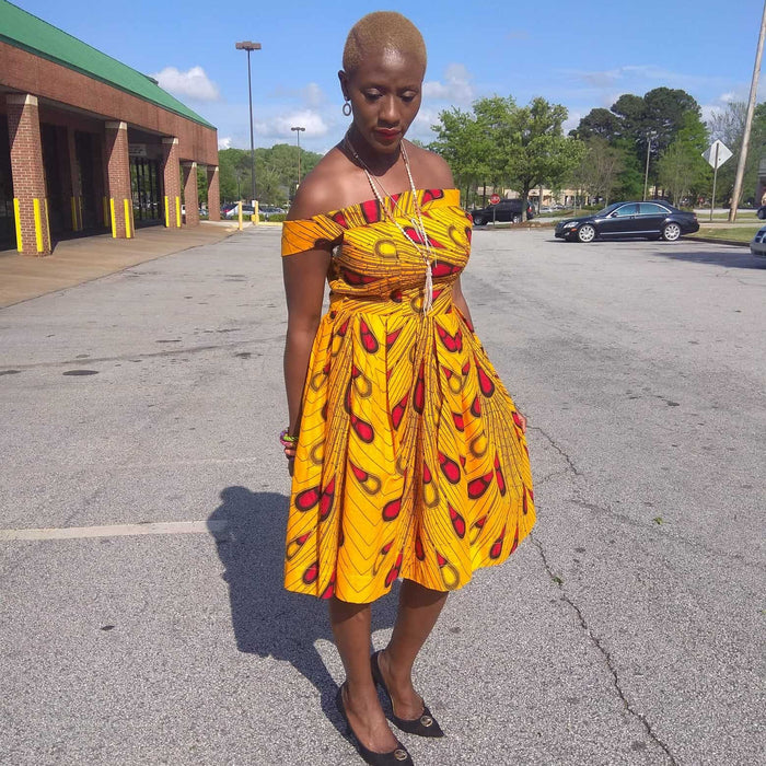 Jua Sunny African Inspired Ankara Dress
