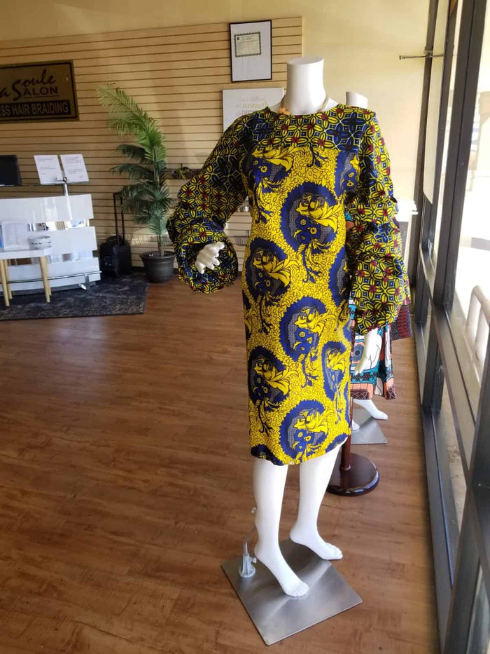 The Biu Patterned Mix Dress