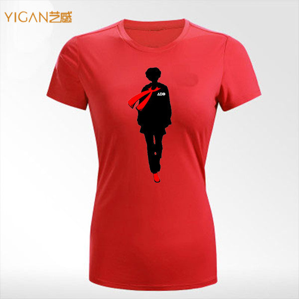 Heat Printing 1913 Delta Sorority Transfer O-neck Woman Tee shirt