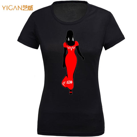 95% cotton 180g printing DST afro girl plain women t shirts