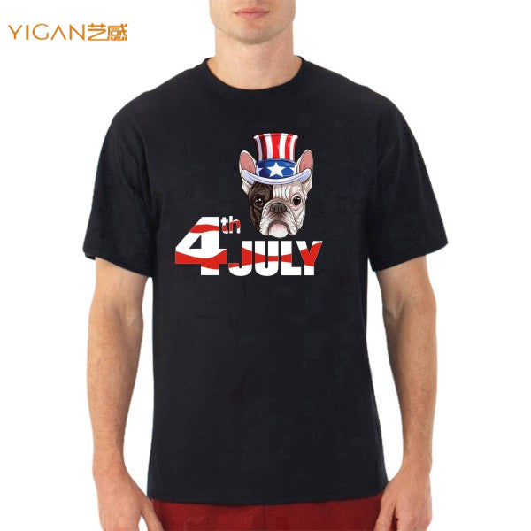 New design 4th of July motif men graphic super soft cotton t-shirts