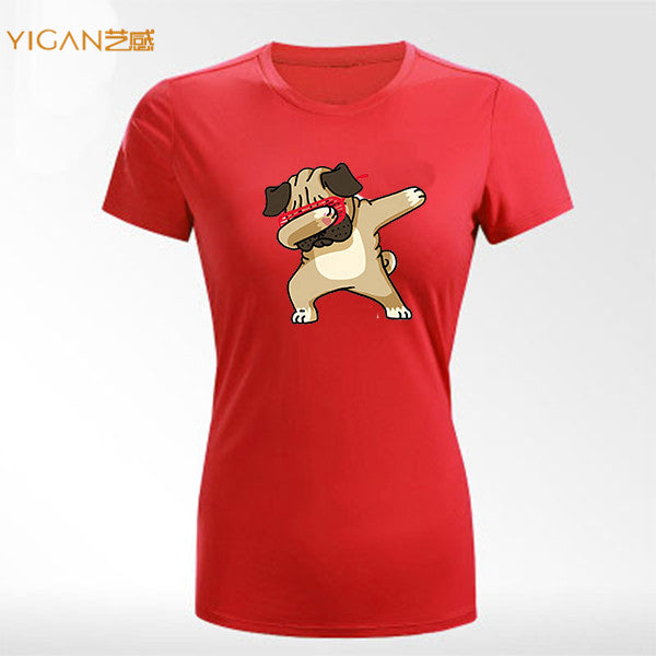 huge sale latest selection enjoy cheap price Bulldog heat printable design cotton woman tshirts in bulk
