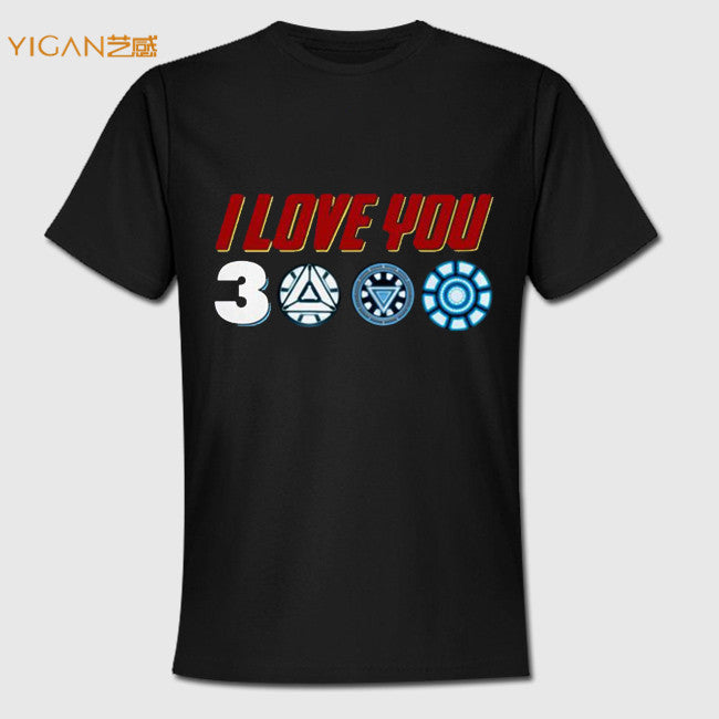 Printing Vinyl I Love You 3 Thousand Times Men Clothing Compressed Shirt