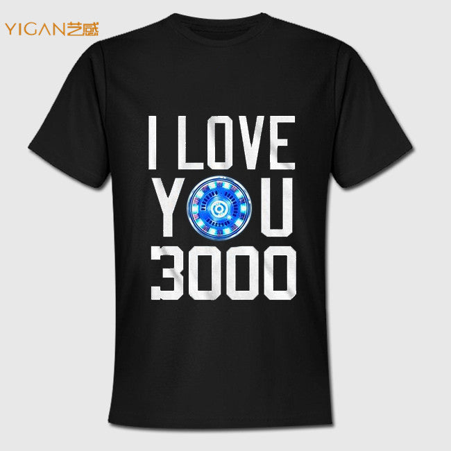 Hot Sale I Love You 3000 Iron On Men Super Soft Cotton T shirts