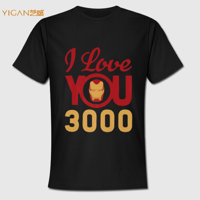 2019 Trending I Love You Three Thousand Printable Iron Character Man tshirts