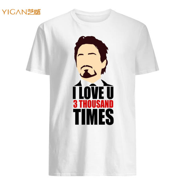 2019 New Hotspot Print I Love You 3 Thousand Times 95% Cotton Man Shirts