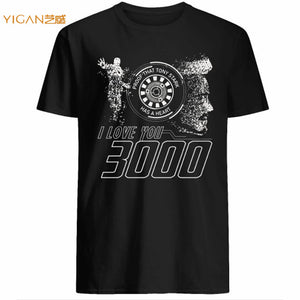 2019 summer hot spot iron love you 3000 on man cotton polyester tshirts