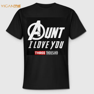 Print Design Aunt I Love You Three Thousand Letter Man Fitness T shirt