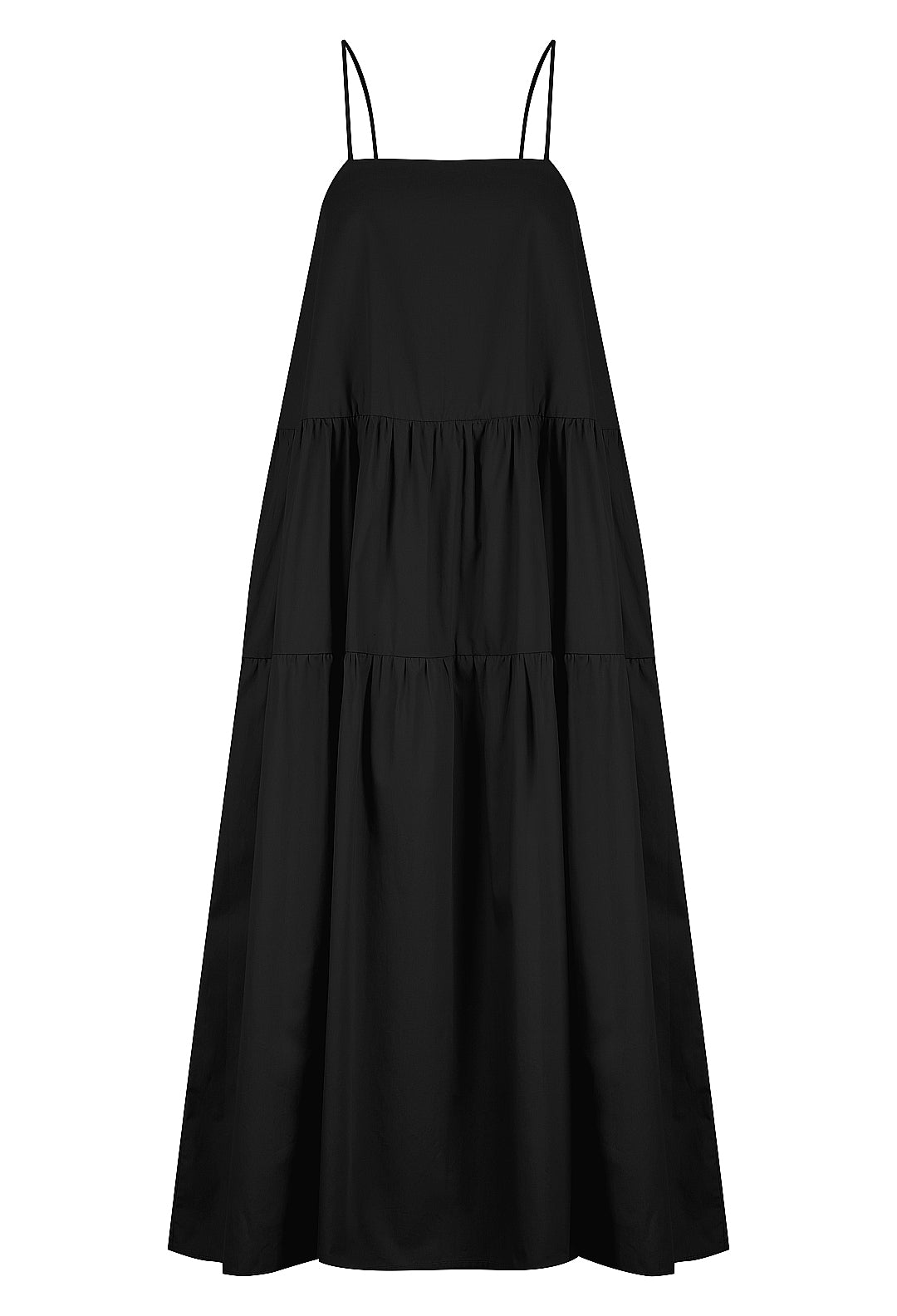 Cotton Gathered Maxi Dress