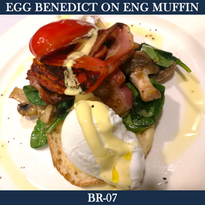 Eggs Benedict on English Muffin - BR-07