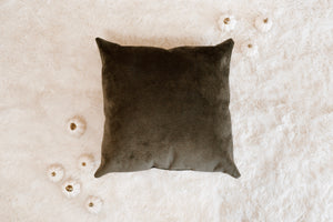 """Dark Moss"" Throw Pillow"