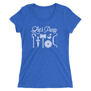 Let's Party Women's Cut Short Sleeve T-Shirt