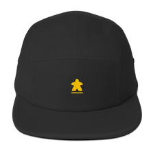 Load image into Gallery viewer, Yellow Meeple Embroidered Five Panel Cap