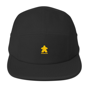 Yellow Meeple Embroidered Five Panel Cap