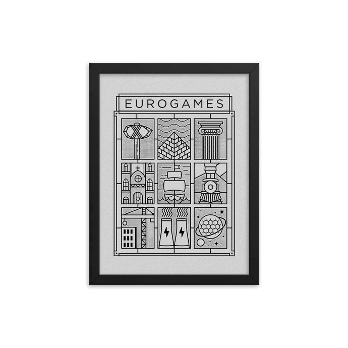 Eurogames Board Game Framed Poster