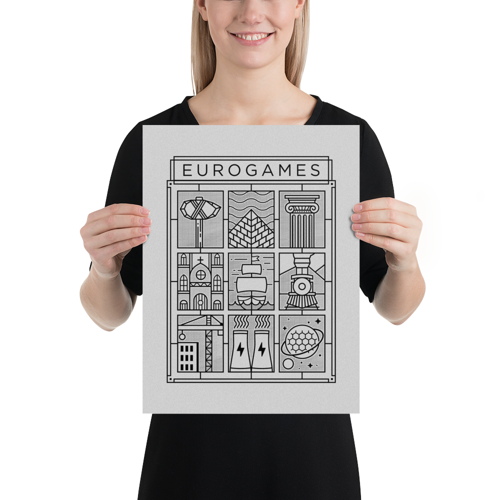 Eurogames Board Game Poster (12×16 in)