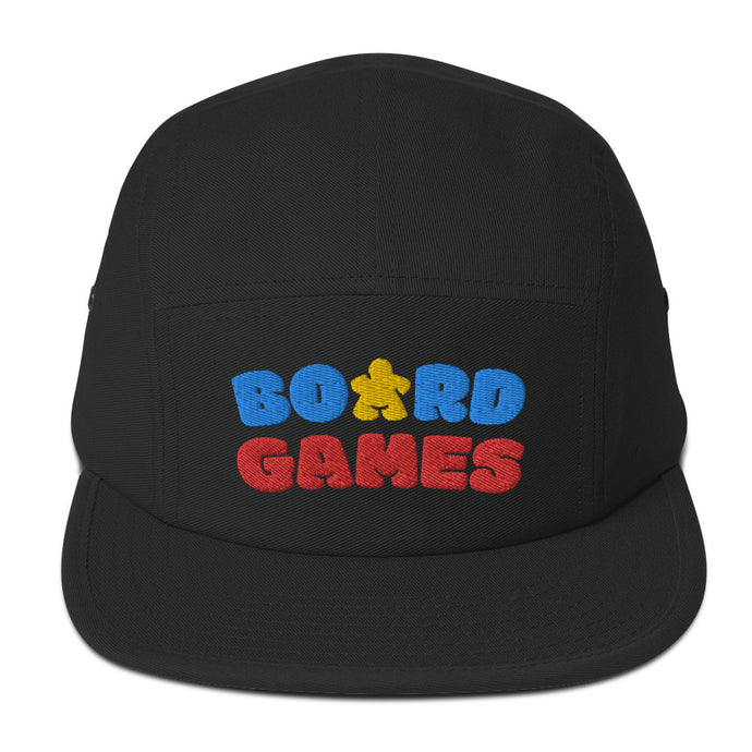 Board Games Embroidered 5 Panel Hat