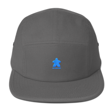 Load image into Gallery viewer, Blue Meeple Embroidered Five Panel Cap