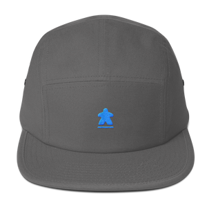 Blue Meeple Embroidered Five Panel Cap