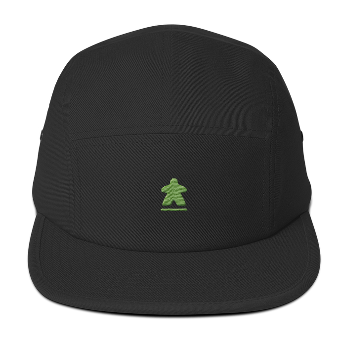 Green Meeple Embroidered Five Panel Cap