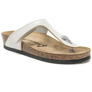 Women's Tacoma white soft thong sandals