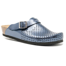 Load image into Gallery viewer, Stockholm Women clogs Soft blue metallic -PREMIUM COMFORT