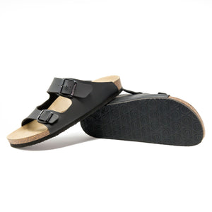 Men's arizona black leathertte sandals